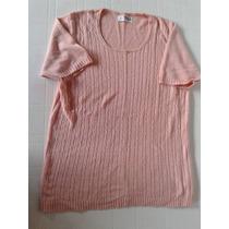 Sweter De Hilo Color Rosa Mauro Sergio