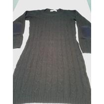 Clara Ibarguren Vestido Saco Sweater Largo Lana Talle 38