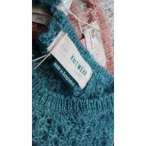Suéter Tejido Calado Bershka Mujer