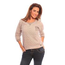 Sweater Diseño Autor Mujer Encaje De Lana Valdivia