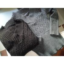 Lote Dos Sweaters Mujer- Super Practicos Con Caladitos Lana