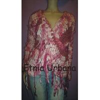 Sweater Con Torzada Y Flecos Tejidos Artesanales Diseños Ex