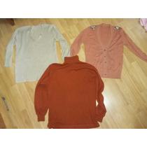 Lote Abrigo Mujer Talle S /m Sweater Pullover Bremer Mujer