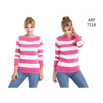 Sweater Cuello Bote Rayado - Danilan