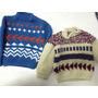 Lote De 2 Sweaters Tejidos A Mano!