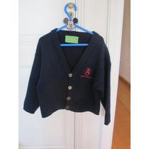 Sweater Saco Cardigan 4 Botones Azul Marino Árbol 4 A 6 Años