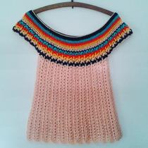 Tejidos Artesanales A Crochet: Remera Multicolor!
