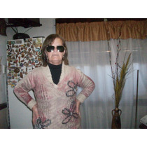 Sweter Artesanal Dama Medium A Estrenar Bordado Ypiedras