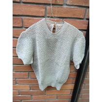 Sweater Mujer Tejido A Mano M, Manga Corta,