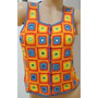 Chaleco Tejido Crochet Hilo Algodon Con Espejitos (ana.mar)