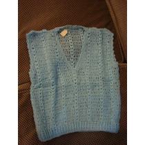 Retro Vintage Ropa De Niños Años 70 Chaleco Al Crochet