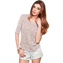 Clippate Sweater Pullover Tejido Hilo Mujer Lurex Print