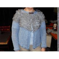 Saquito, Sweater, Pullover Con Volados En Dos Agujas