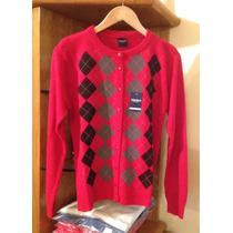 Sweater Cardigan C/rombos, Vanlon. Excelente Calidad!!