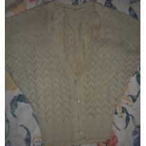 Sweter - Saquito Tejido Calado Para Mujer