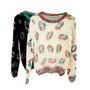 Clippate Sweater Pullover Abrigo En Lana Pelo De Mono Mujer