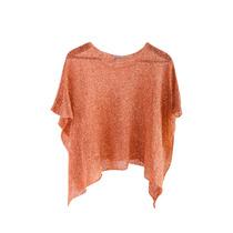 Clippate Sweater Poncho Saco Tejido En Seda Con Lentejuelas