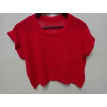 Suéter Sweater Calado Talle Único (amplio) Mangas Cortas