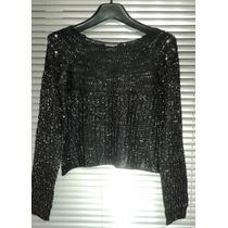 Sweaters Corto Con Tachas Y Lurex