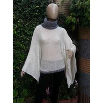 Sweater Sueter Poncho Tejido Artesanal Hasta Xxxl