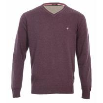 Sweater Pullover Buzo Brooksfield Hombre Hilo Algodon Liso