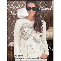 Sweater De Mujer, Estampado. Vanlon. Excelente Calidad!!