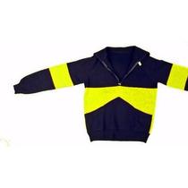 Excelente-sweater-vintage-mc-grath-anos-70s-azul-y-amarillo-