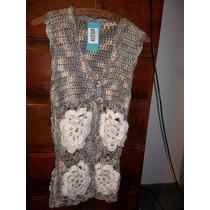 Chaleco A Crochet Finisimo. Nuevo.