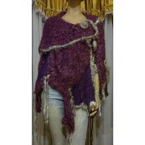 Capa Poncho Mujer Tejidos Artesanales De Diseños Exclusivos