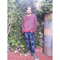 Sweater Sueter Poncho Tejido Artesanal Hombre Hasta Xxxl