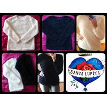 Sweater Pullover Pelo De Mono Oferta!!