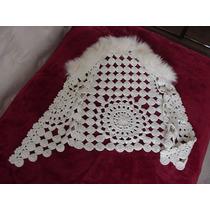 Chaleco Crochet Con Piel Vintage Hippie