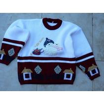 Sweater Pullover Buzo Lana Combo 6 Y 8 Años Ropaniña00