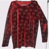 Remera Sweaters De Chifon Con Piedritas Stras Ideal Fiesta