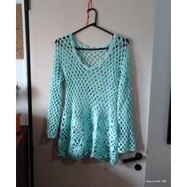 Suéter Calado De Hilo, Tejido A Crochet. A Pedido.