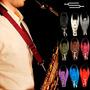 Correa Para Saxo (alto, Tenor) Modelo Color Con Toalla - Md