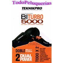 Secador Profesional Teknikpro 5000 Biturbo + Potente 2200wat
