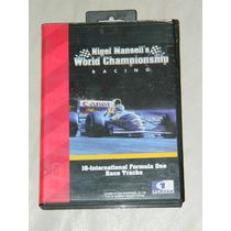 Nigel Mansell´s World Championship De Sega Genesis En Caja