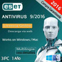 Eset Nod32® 9 Antivirus 2016 I 3 Pc | 1 Año Stock Disponible