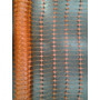 Malla Reticulada Pesada Naranja Fluo X Rollo 1x50m
