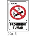 Cartel Señalizacion Prohibido Fumar - Seguridad Industrial