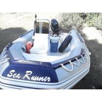 Vendo Semirrigido Sea Runner 5,20 Con Motor Suzuki 50hp 4t