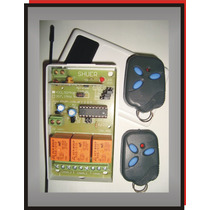 Kit 2 Control Remoto Receptor Universal Alarma Porton Luces