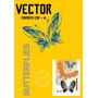 Vector Mariposas Formato Cdr+ai