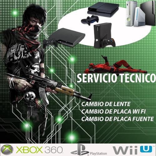 Service Reparación Ps2 Ps3 Ps4 Psp Wii Xbox360 One Morón