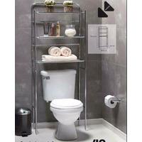 Mueble Organizador Baño Repisa Acero Toallas Sobre Inodoro