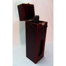 Fina Y Elegante Caja De Madera Lustrada Para Vino