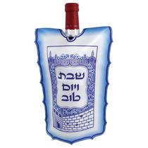 Cubre Botella De Vino En Seda (azul)