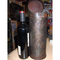 Estuche Para Botella De Vino Madera Labrado