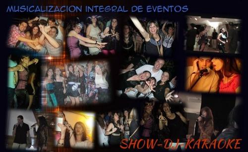 Show Musical En Vivo + Disc Jockey (total 4 Horas): 3000$